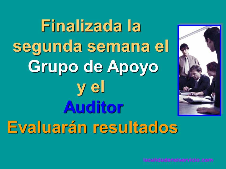 Finalizada la segunda semana el Grupo de Apoyo y el Auditor