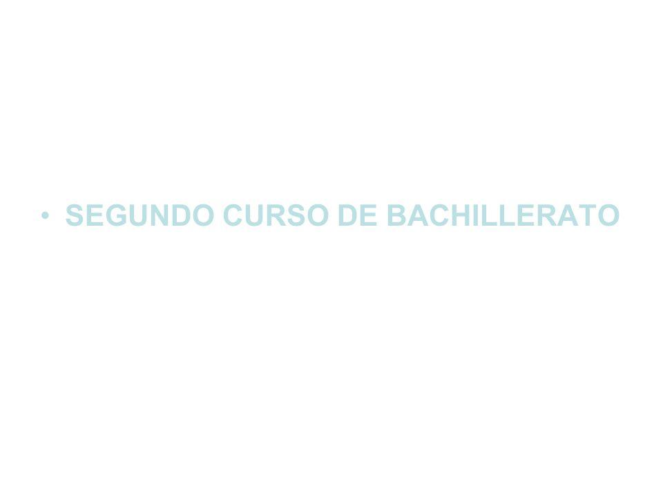 SEGUNDO CURSO DE BACHILLERATO