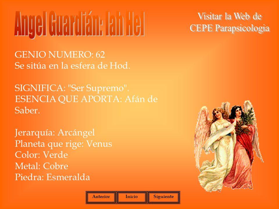 Angel Guardián: Iah Hel
