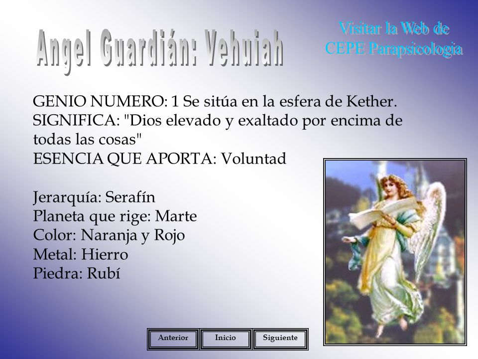 Angel Guardián: Vehuiah