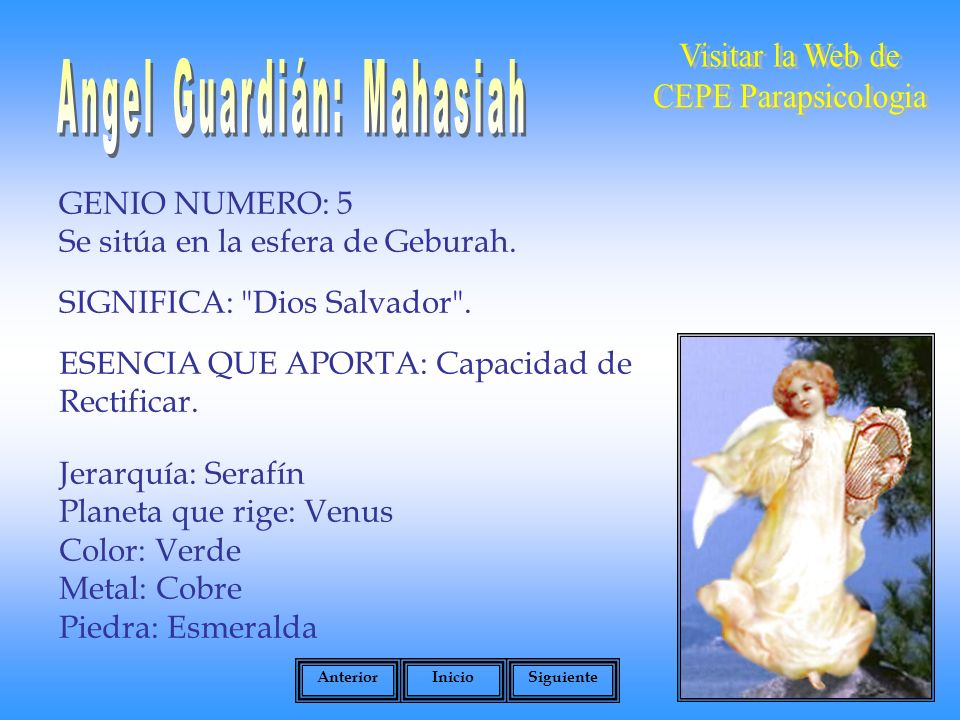 Angel Guardián: Mahasiah