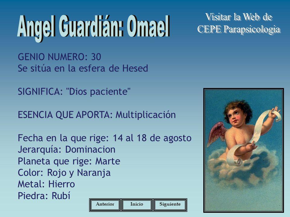 Angel Guardián: Omael Visitar la Web de CEPE Parapsicologia