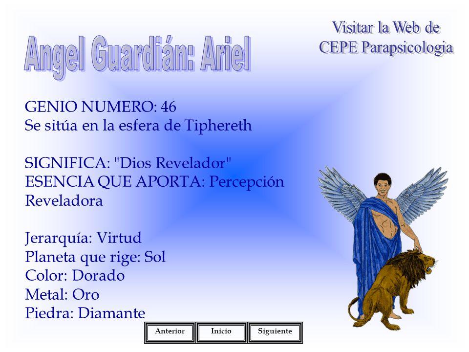 Angel Guardián: Ariel Visitar la Web de CEPE Parapsicologia