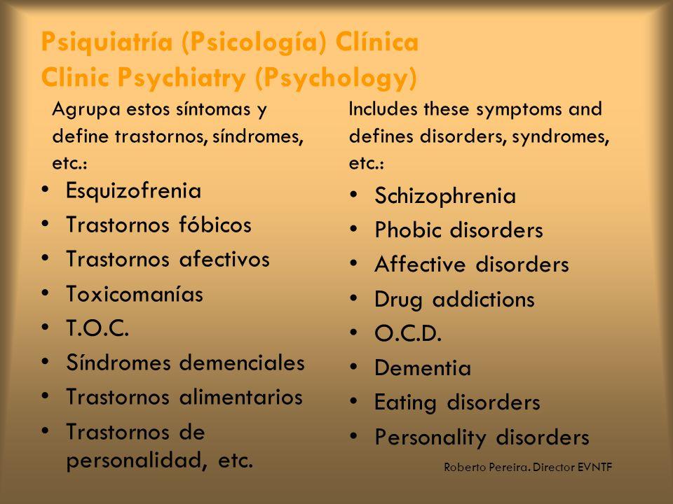 Psiquiatría (Psicología) Clínica Clinic Psychiatry (Psychology)