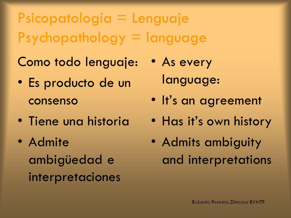 Psicopatología = Lenguaje Psychopathology = language