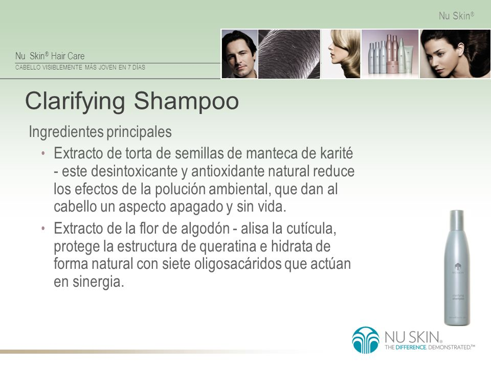 Clarifying Shampoo Ingredientes principales