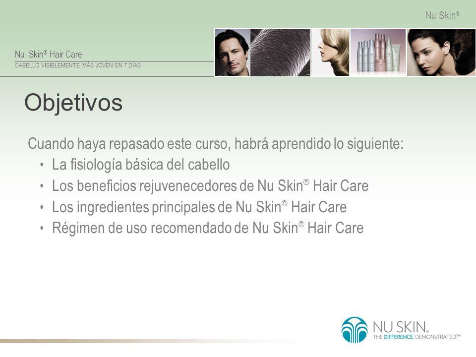 Objetivos Cuando haya repasado este curso, habrá aprendido lo siguiente: La fisiología básica del cabello.