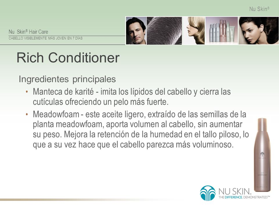 Rich Conditioner Ingredientes principales