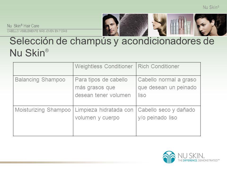 Selección de champús y acondicionadores de Nu Skin®