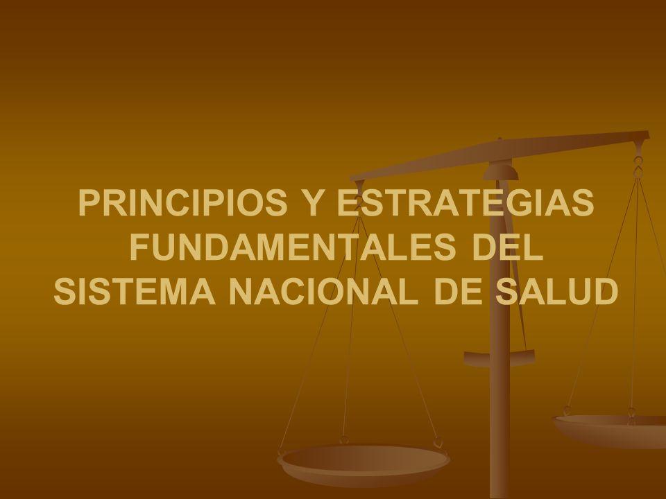 PRINCIPIOS Y ESTRATEGIAS FUNDAMENTALES DEL SISTEMA NACIONAL DE SALUD