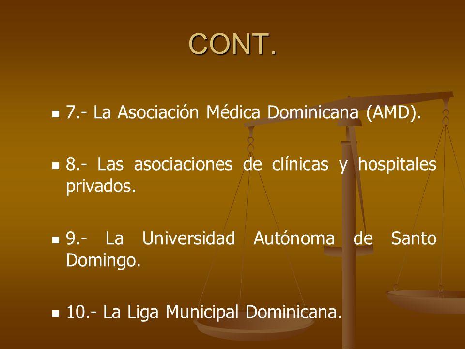 CONT. 7.- La Asociación Médica Dominicana (AMD).