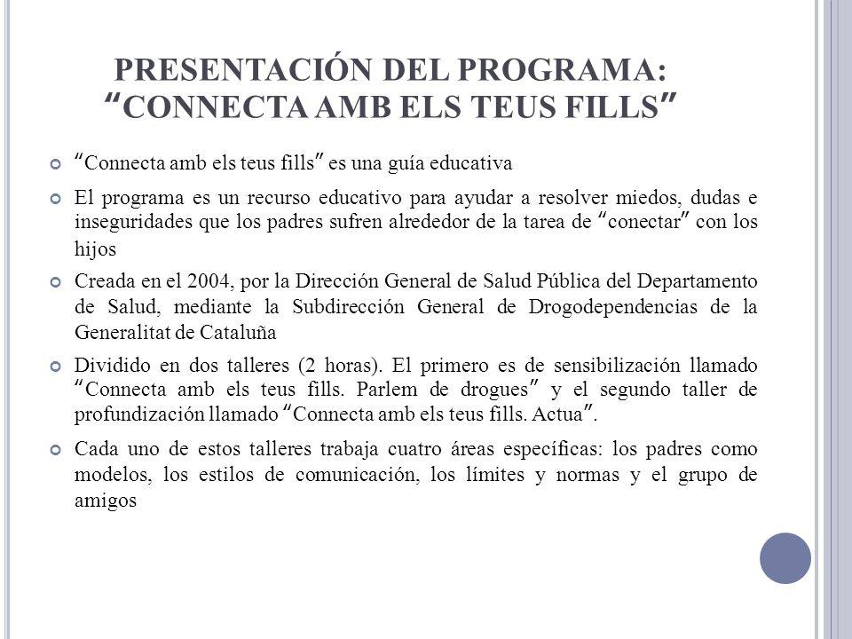 PRESENTACIÓN DEL PROGRAMA: CONNECTA AMB ELS TEUS FILLS