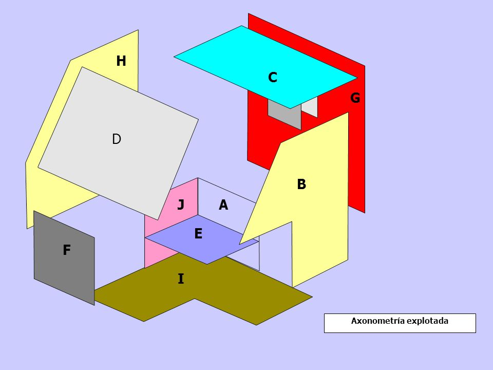 Axonometría explotada