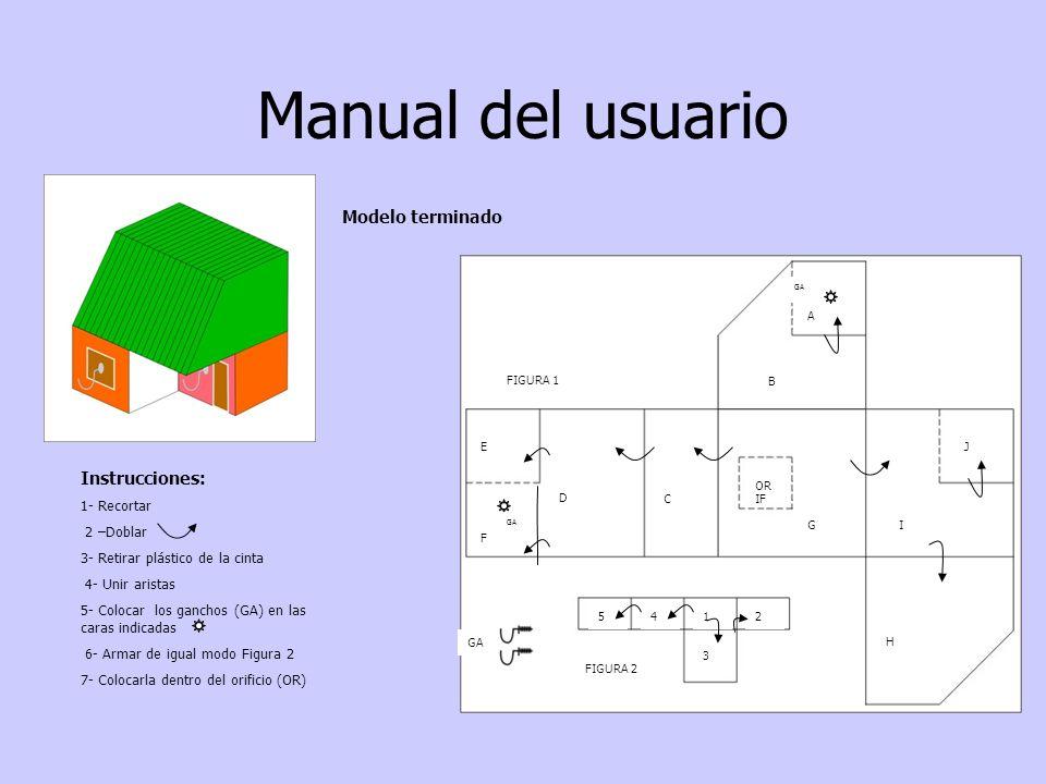 Manual del usuario Modelo terminado Instrucciones: 1- Recortar