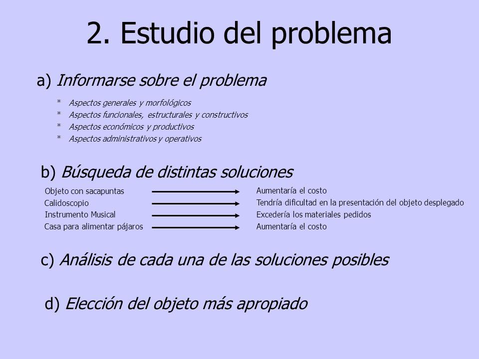 2. Estudio del problema a) Informarse sobre el problema