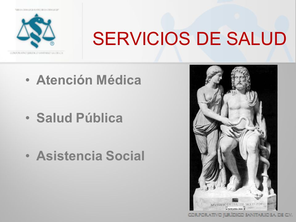 SERVICIOS DE SALUD Atención Médica Salud Pública Asistencia Social