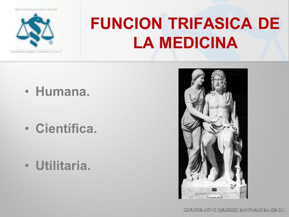 FUNCION TRIFASICA DE LA MEDICINA