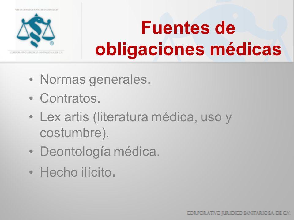 Fuentes de obligaciones médicas