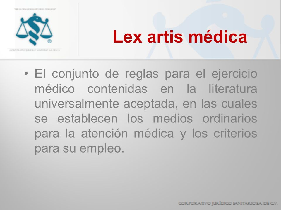 Lex artis médica