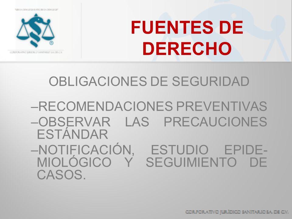 OBLIGACIONES DE SEGURIDAD