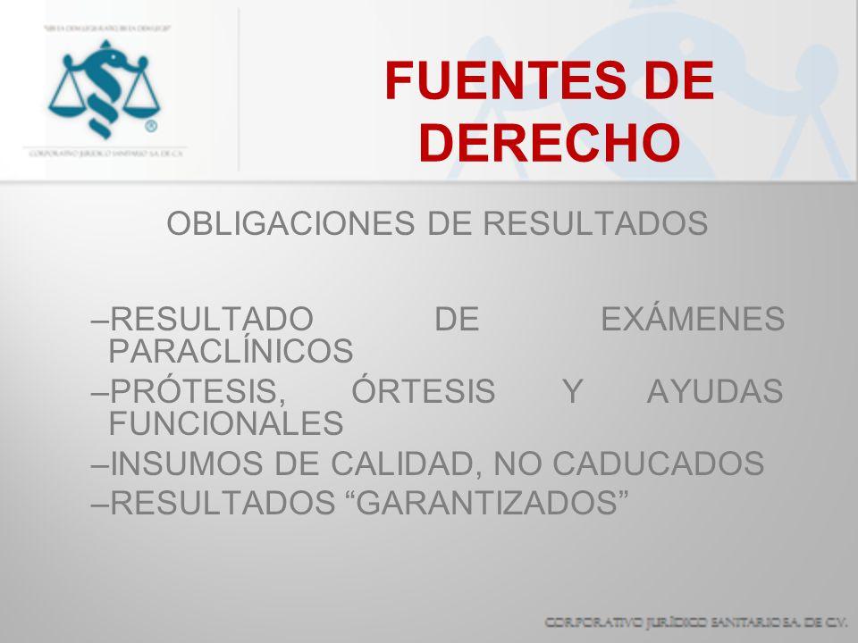 OBLIGACIONES DE RESULTADOS