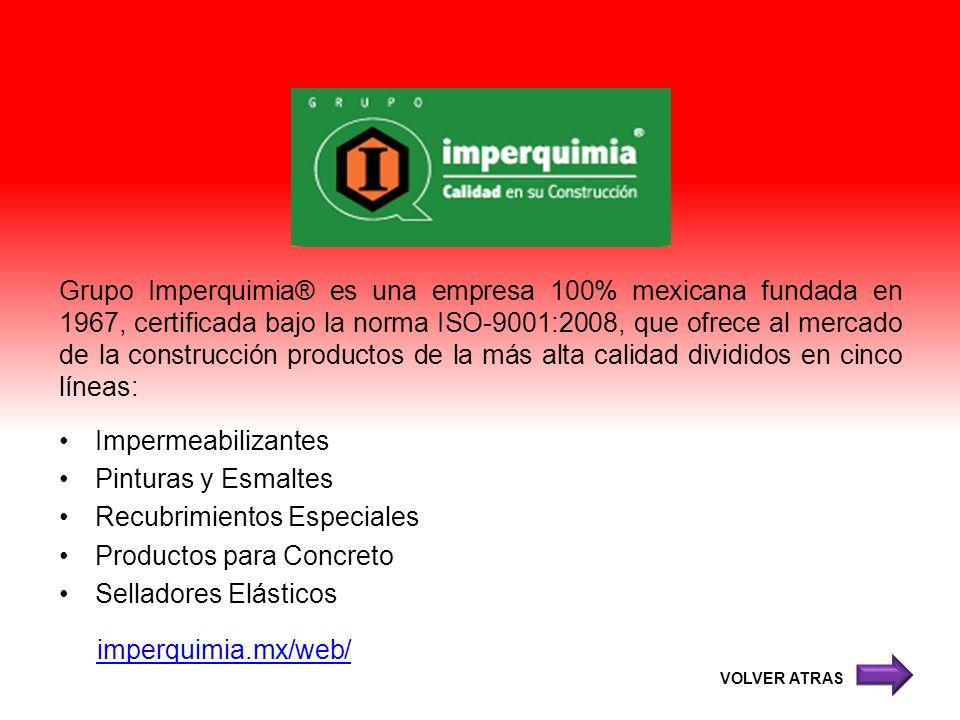 Recubrimientos Especiales Productos para Concreto Selladores Elásticos