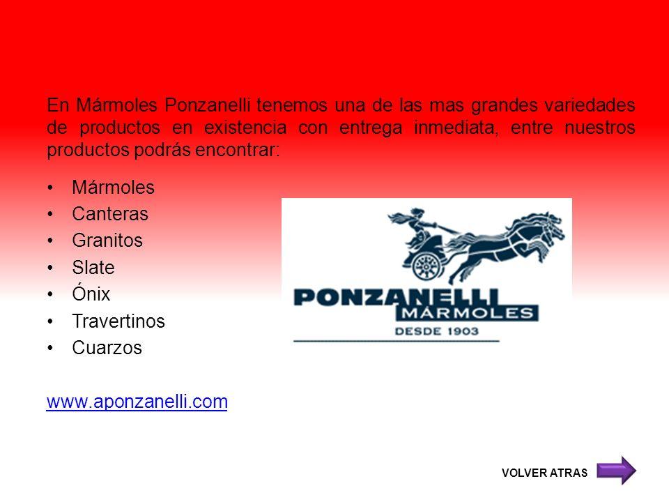 En Mármoles Ponzanelli tenemos una de las mas grandes variedades de productos en existencia con entrega inmediata, entre nuestros productos podrás encontrar: