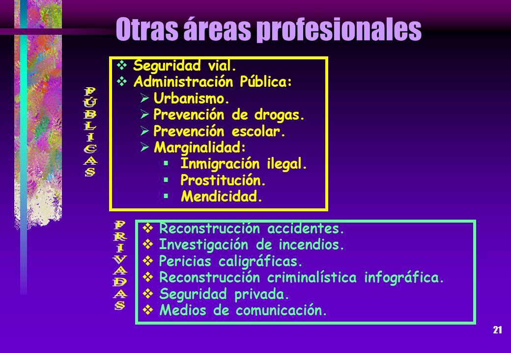Otras áreas profesionales