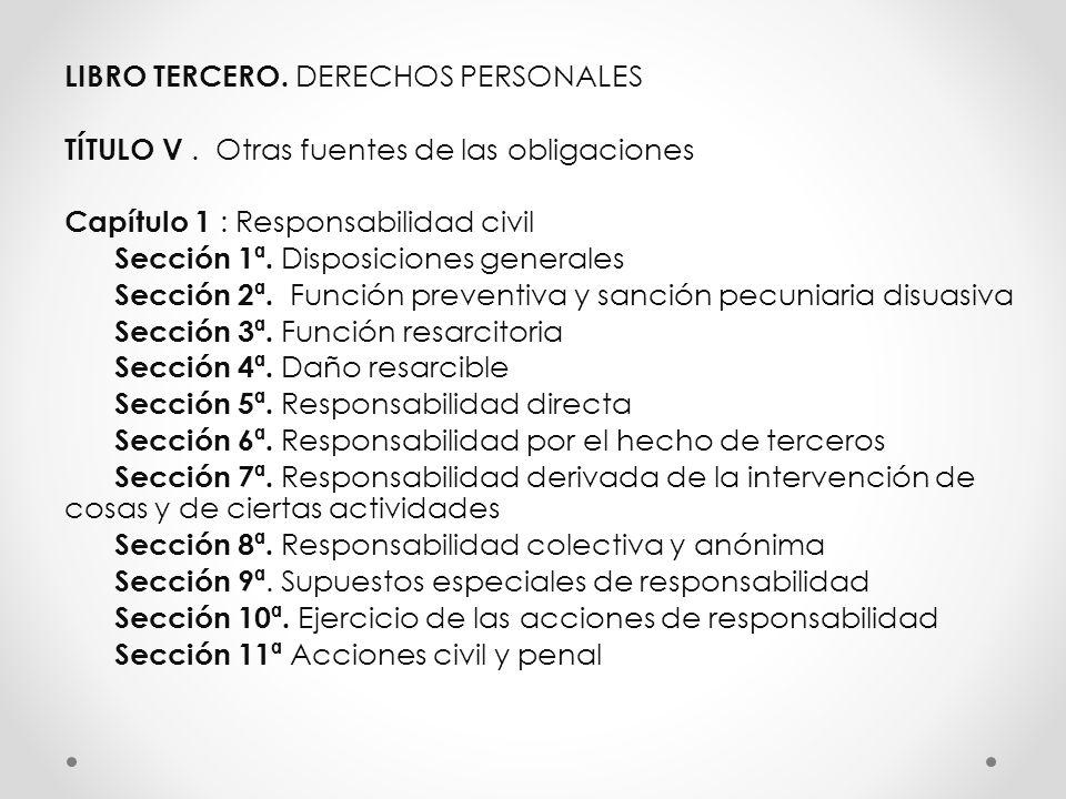 LIBRO TERCERO. DERECHOS PERSONALES