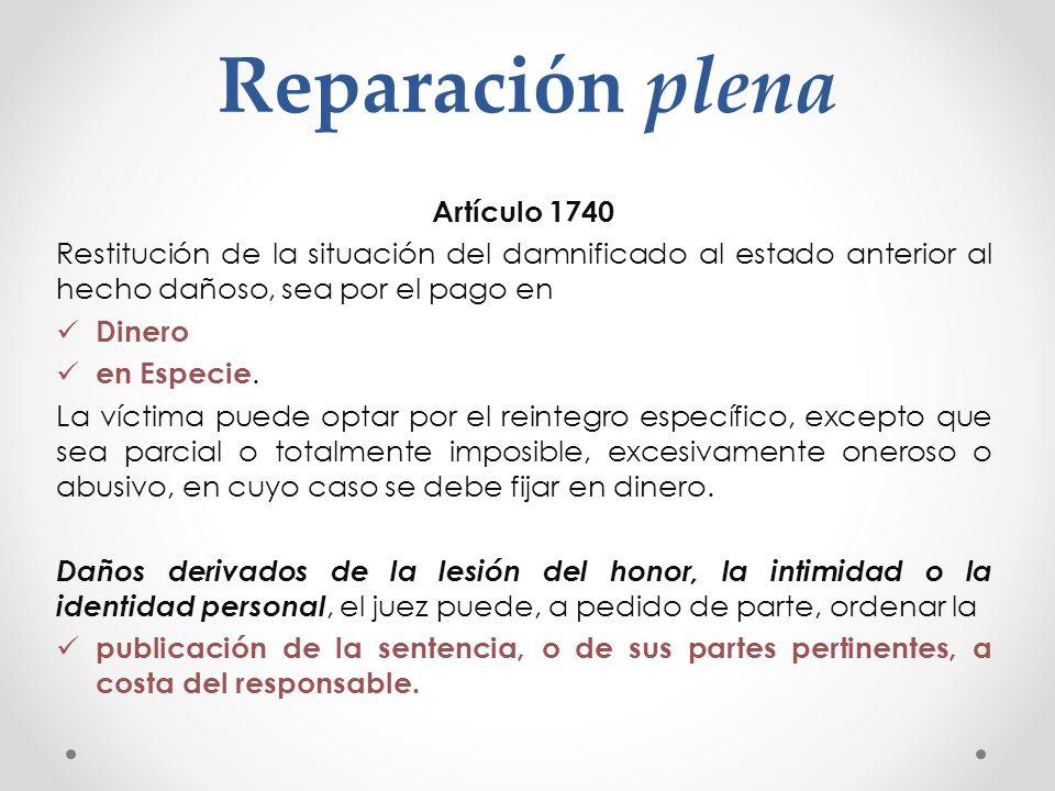 Reparación plena Artículo 1740