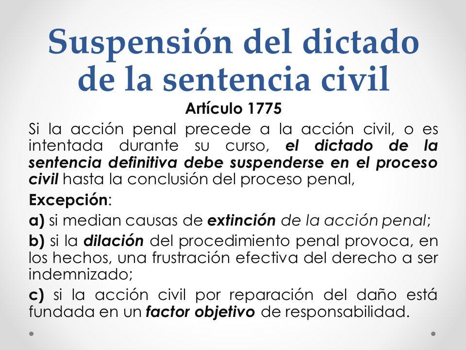 Suspensión del dictado de la sentencia civil