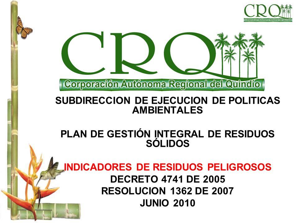 SUBDIRECCION DE EJECUCION DE POLITICAS AMBIENTALES