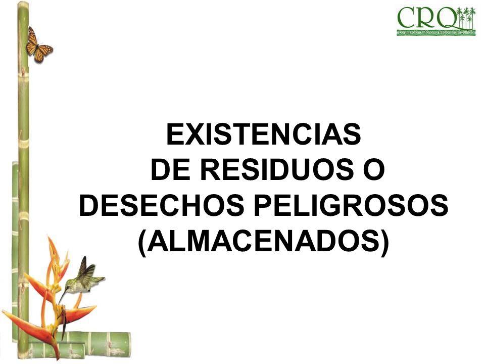 DE RESIDUOS O DESECHOS PELIGROSOS