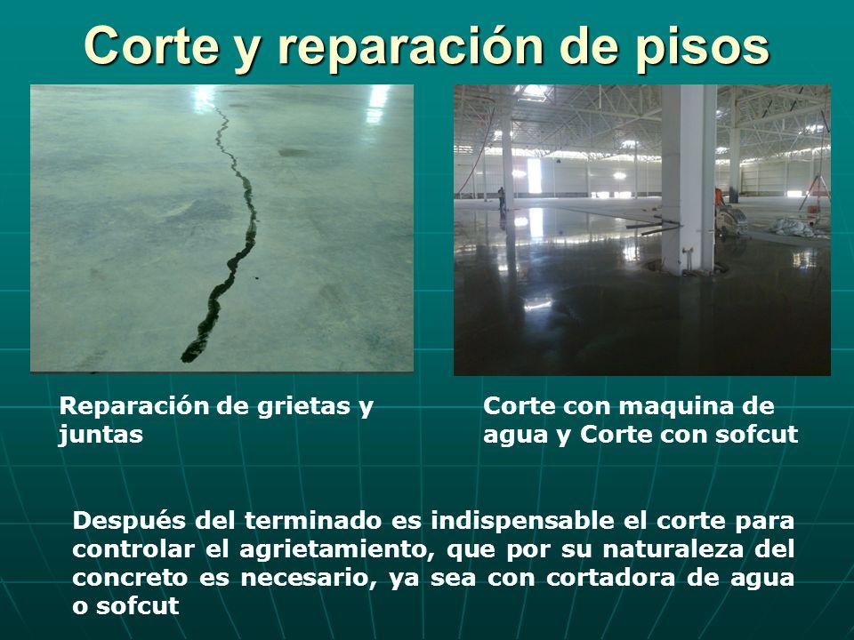 Corte y reparación de pisos