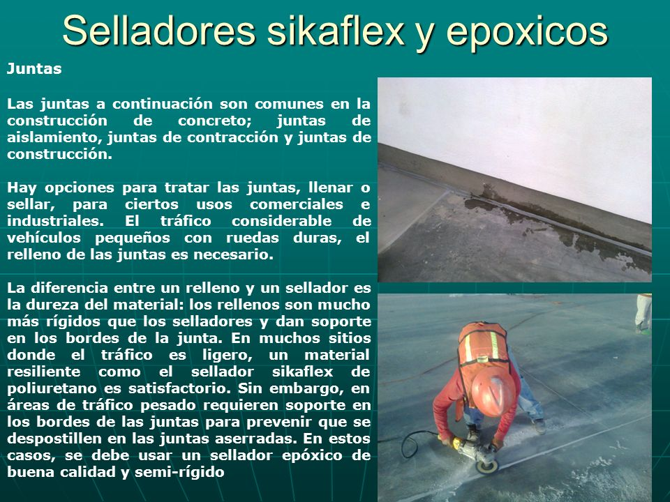 Selladores sikaflex y epoxicos