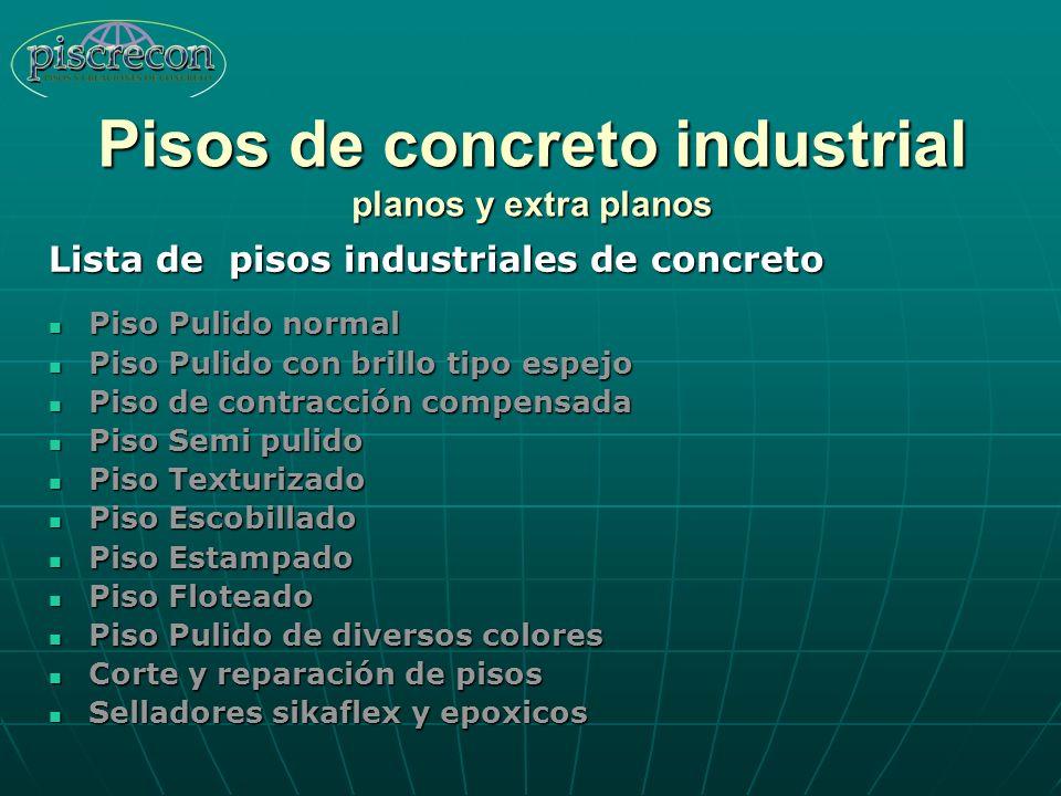 Pisos de concreto industrial planos y extra planos