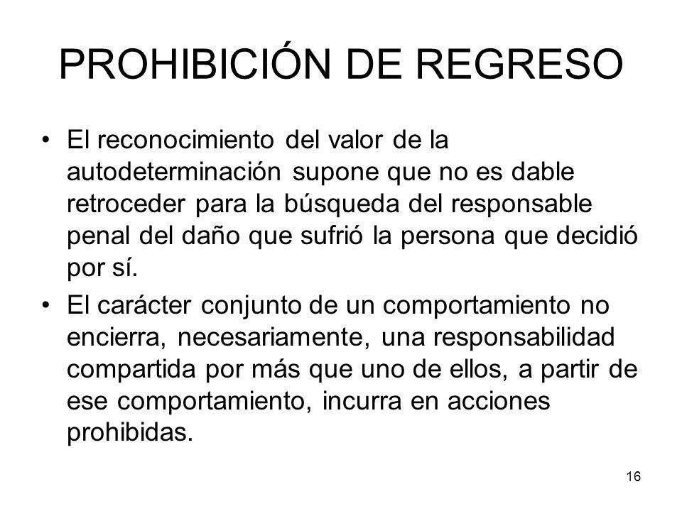 PROHIBICIÓN DE REGRESO