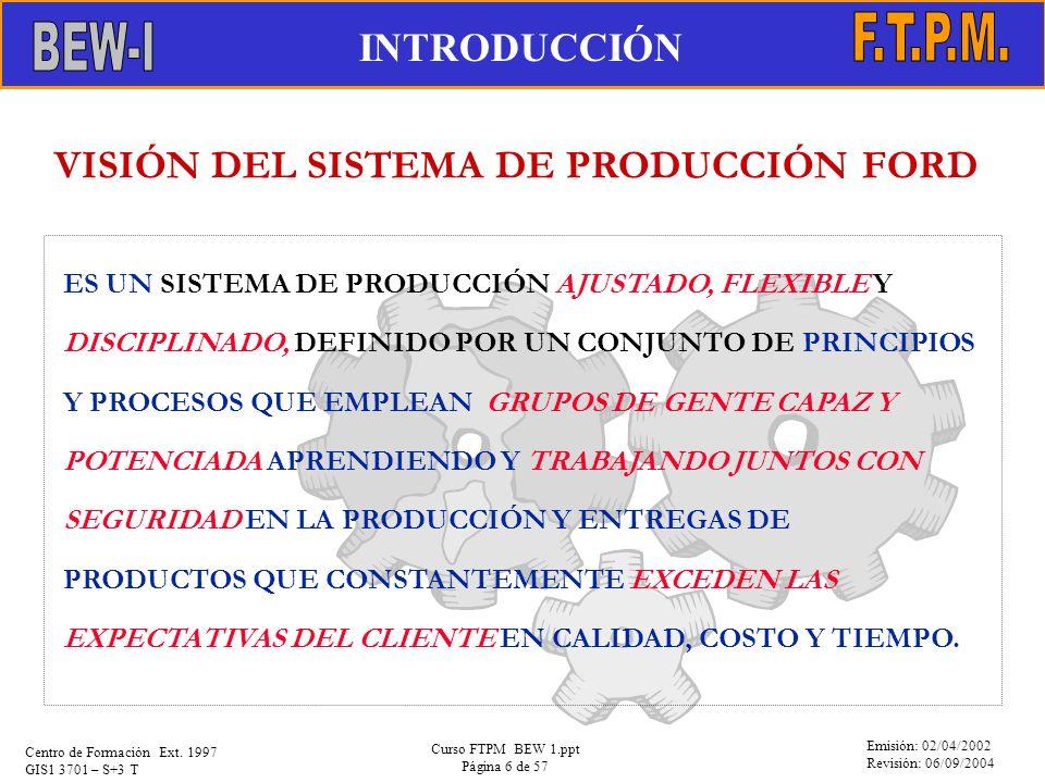 VISIÓN DEL SISTEMA DE PRODUCCIÓN FORD