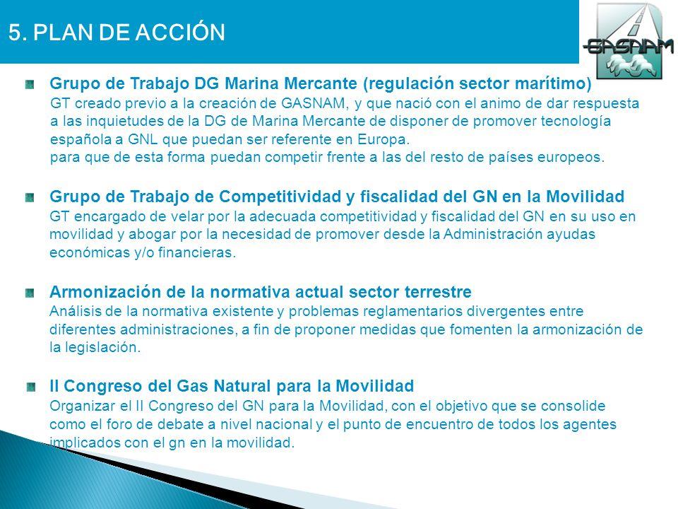 5. PLAN DE ACCIÓN Grupo de Trabajo DG Marina Mercante (regulación sector marítimo)