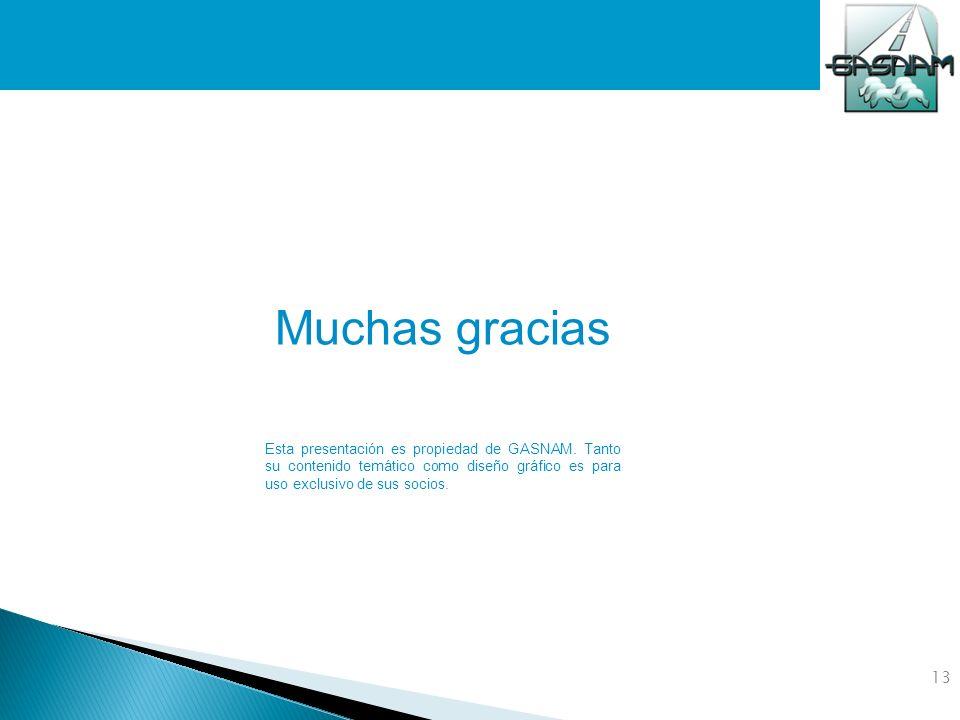 Muchas gracias Esta presentación es propiedad de GASNAM. Tanto su contenido temático como diseño gráfico es para uso exclusivo de sus socios.