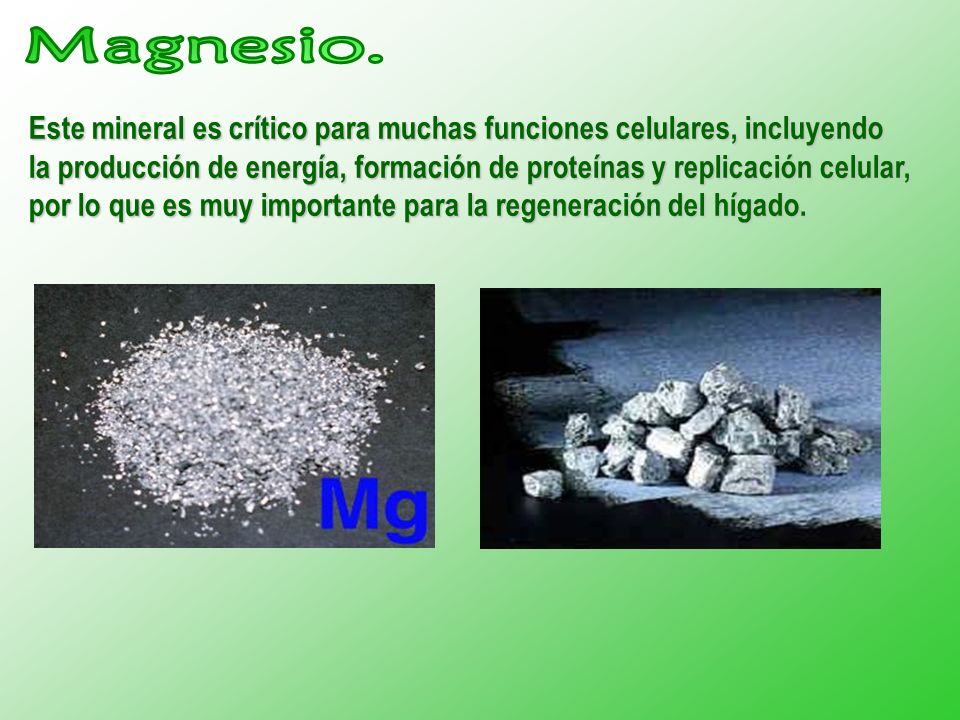 Magnesio.