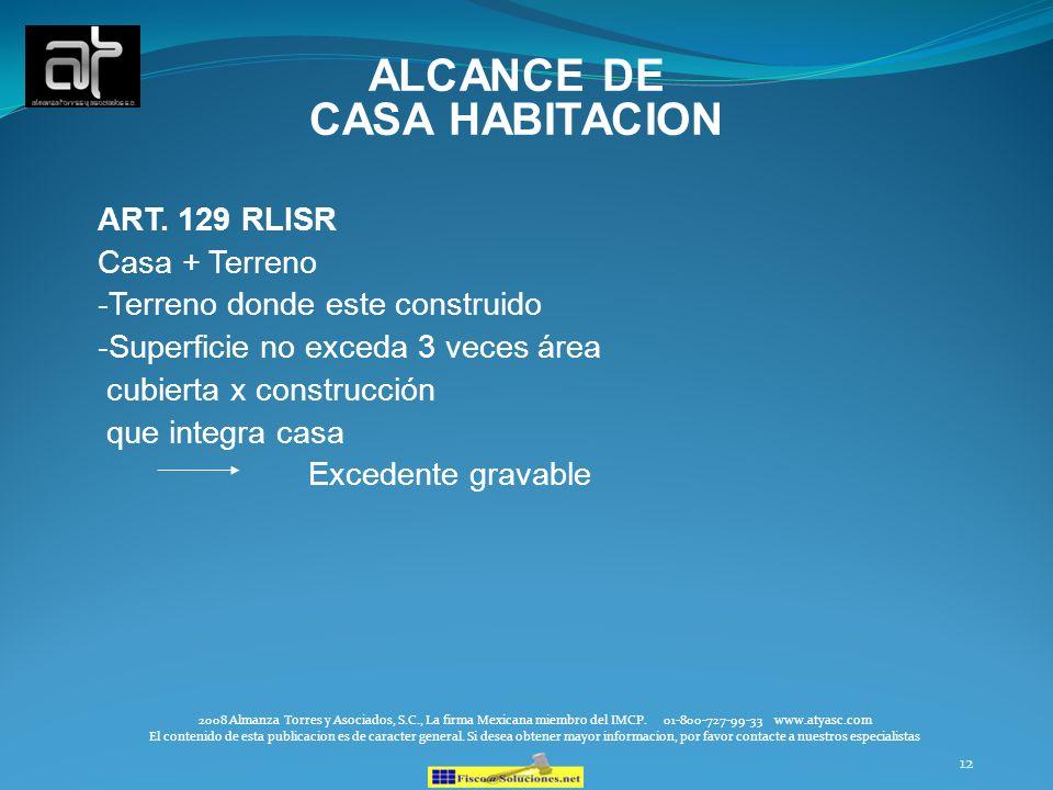 ALCANCE DE CASA HABITACION
