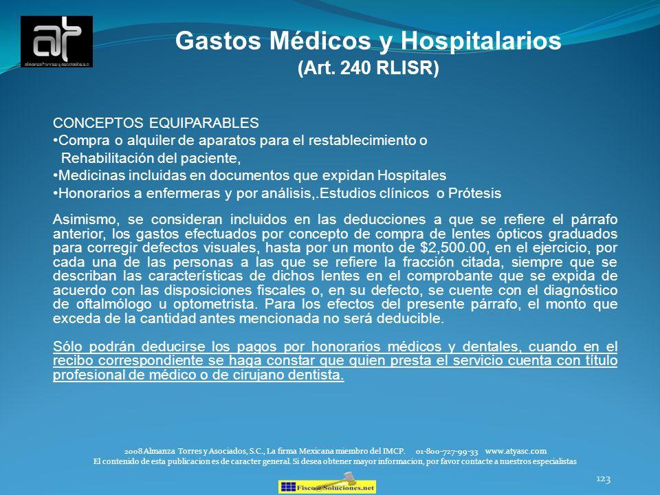 Gastos Médicos y Hospitalarios