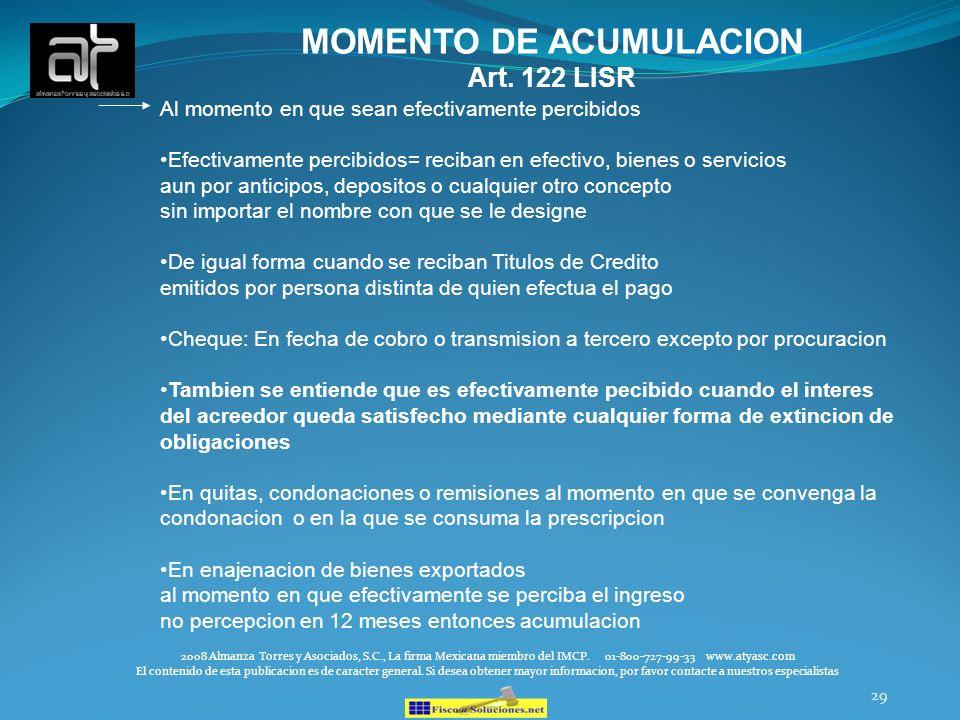 MOMENTO DE ACUMULACION