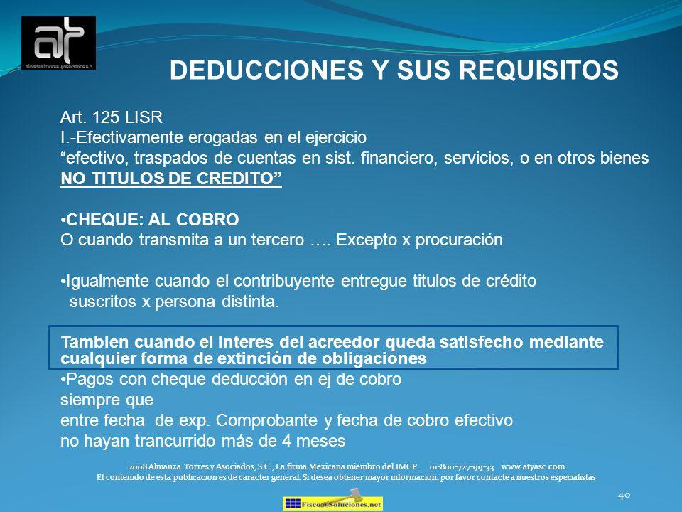 DEDUCCIONES Y SUS REQUISITOS