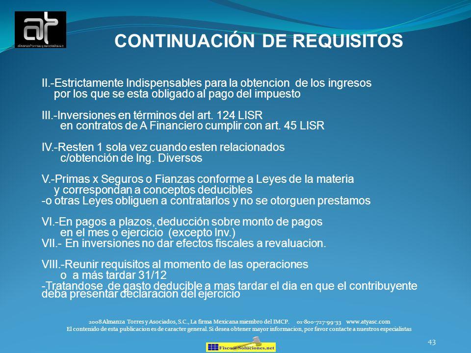 CONTINUACIÓN DE REQUISITOS