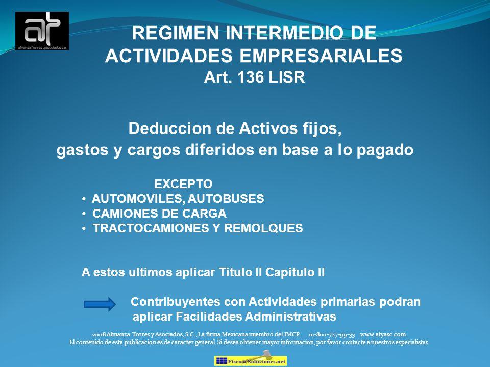 REGIMEN INTERMEDIO DE ACTIVIDADES EMPRESARIALES