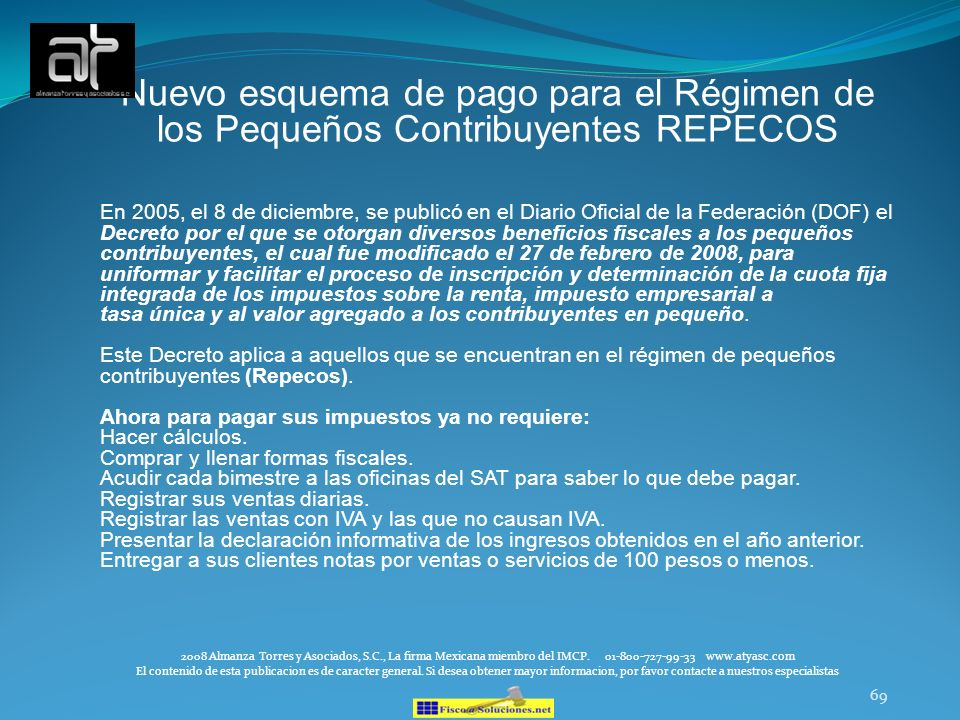 Nuevo esquema de pago para el Régimen de los Pequeños Contribuyentes REPECOS