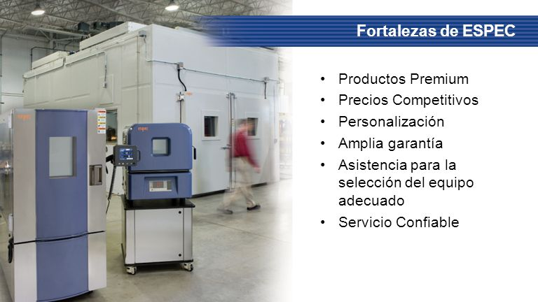 Fortalezas de ESPEC Productos Premium Precios Competitivos