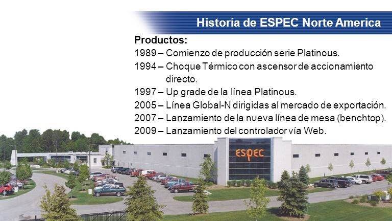 Historía de ESPEC Norte America